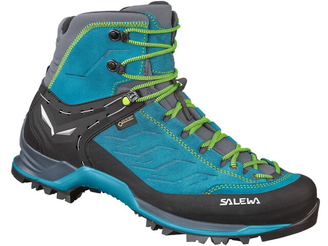 SALEWA MTN Trainer Mid GTX Chaussures Homme, poseidon/fluo yellow